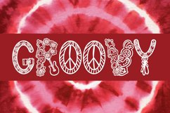 Far Out - A Groovy Retro Word Art Font Product Image 3