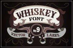 Vintage whiskey style font Product Image 1