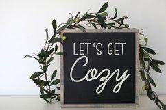 Lets Get Cozy wood sign svg Product Image 2