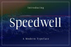 Web Font Speedwell Product Image 1