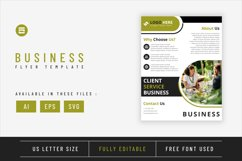 Business flyer template with lime geometry shapes design Product Image 1