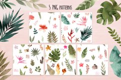 Tropical Collage. Patterns, Cliparts Product Image 2
