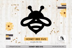 Honey Bee SVG Bumble Bee SVG Bee Cut File Bee Clipart Kids Product Image 1