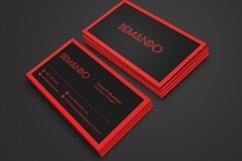 Black and Red Business Card Product Image 1