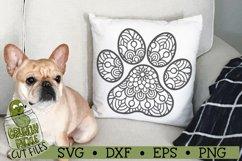 Mandala Paw Print SVG Cut File Product Image 3