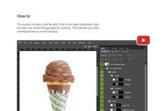 Ice Cream Cone Mockup Product Image 4