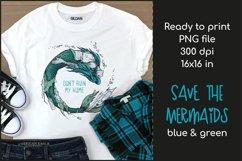 Trash Mermaid T-shirt Design, Mermaid Sublimation PNG Product Image 1