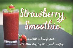 Strawberry Smoothie- A handlettered script font Product Image 1