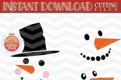 Snowman Faces SVG - Snowman Svg - Christmas bundle SVG Product Image 2