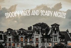 SCARY SKELLY a Halloween Display Font Product Image 4