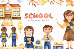 SCHOOL. Watercolor collection. Clipart, cards, patterns Product Image 1