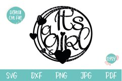 It's a Girl Cake Topper SVG   Baby Shower cut file Product Image 2