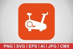 Vector Cycling Machine Icon Product Image 1