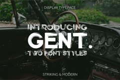 Gent. Display brushed typeface. Striking and modern. Product Image 1