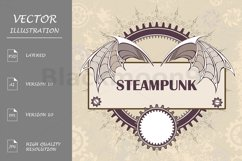 Banner with a Mechanical Dragon Wings ( Steampunk ) Product Image 1