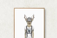 Hipster Wall Art, Funny Animal Prints, Hipster Animals Product Image 2