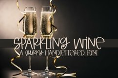 Web Font Sparkling Wine - A Quirky Hand-Lettered Font Product Image 1