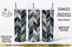 Tangram Skinny Tumbler Bundle Chevron Sublimation Design PNG Product Image 2
