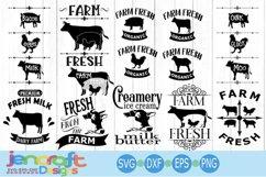 Farm svg Cow SVG, Farm Sign Design, Farm labels, Kitchen SVG Product Image 1