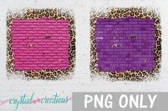 Sublimation Brick Wood Glitter Leopard Bundle Sublimation Product Image 2