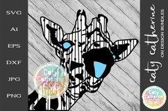 Giraffe Head Tongue Out SVG Product Image 1