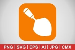 Vector Trowel Icon Product Image 1