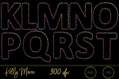 Rainbow String Lights Alphabet Graphic Bundle Product Image 3