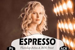 Espresso Photoshop Actions And ACR Presets, Brown Ps preset Product Image 1