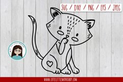 Love cat svg, dxf, png, eps Product Image 1