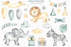 Animals and balloons watercolor Product Image 10