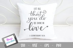 Let all that you do be done in love SVG Product Image 1