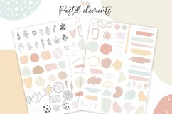 Abstract Pastel Shapes and Elements. Modern art clipart Product Image 2