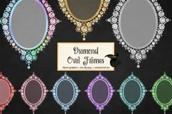 Diamond Oval Frames Clipart Product Image 1