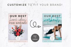 Pinterest Templates for Canva | Pin Templates | Pink & Grey Product Image 3