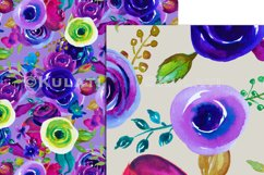 Watercolor Floral Seamless Patterns Product Image 6