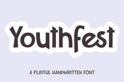 Youthfest - a playful handwritten font Product Image 1