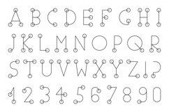 Minimalist English Alphabet. Product Image 1