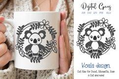 Koala SVG / PNG / EPS / DXF Files Product Image 1