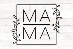 Mama svg for shirts, Mama svg , Mama square, Mothers Day svg Product Image 1