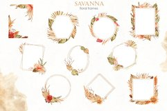 Savanna dried flowers and leaves Watercolor Product Image 7