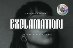 Exclamation Font Product Image 1