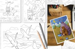 Coloring pages with funny animals, journeys and summer stuff Product Image 3