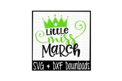 Little Miss March Cut File Product Image 1