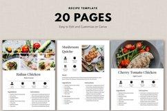 Recipe template, Recipe Ebook, Food, Cookbook template canva Product Image 3