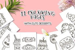 Coloring Pages with Cute Desserts Product Image 1