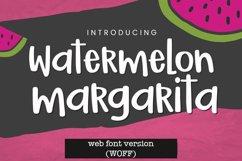 WEB FONT Watermelon Margarita Handwritten Font - WOFF File Product Image 1