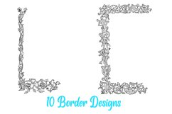 10 William Morris Style Border Lines Illustration Collection Product Image 2