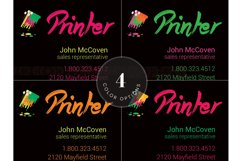 Printer Business Card PSD Template Product Image 3