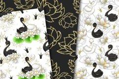Swans digital paper Product Image 4