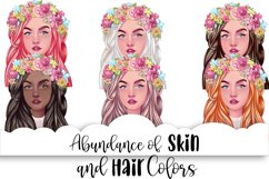 SPRING Clipart Planner FASHION Girl Clipart | Floral Planner Product Image 3